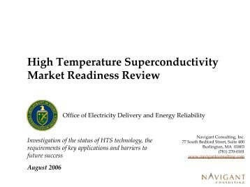 High Temperature Superconductivity Market ... - W2agz.com