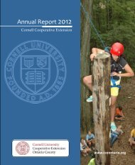Annual Report 2012 - Cornell Cooperative Extension of Ontario ...