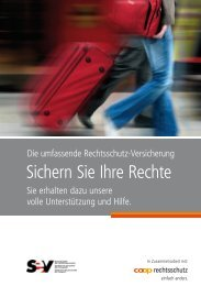 Broschüre Rechtsschutz - SEV