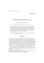Statistical methods for microarray assays - Journal of Applied Genetics