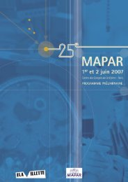 Programme du samedi 2 juin - Mapar