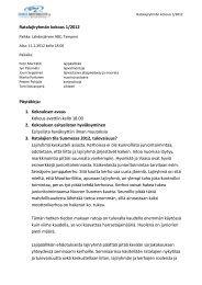 Ratalajiryhmän pöytäkirja 1/2012