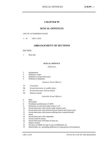 Sexual Offences and Domestic Violence Act - The Bahamas Laws ...