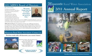 2011 Annual Report - Minnesota Rural Water Association