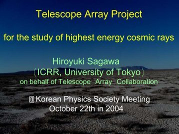 Telescope Array Project