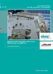 Präzisionsteile-Hersteller Alme setzt ERP-Lösung von ABAS ein (pdf ...