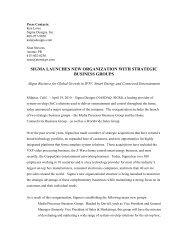sigma launches new organization with strategic ... - Sigma Designs