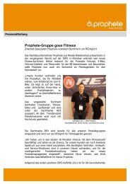 Pressemitteilung – Prophete-Gruppe Goes Fitness