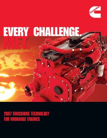 2007 emissions technology for midrange engines - Cummins Engines
