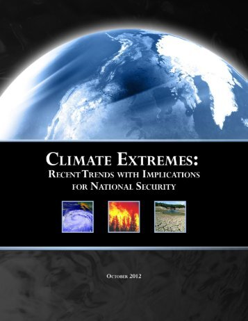 Climate extremes: recent trends with implications for national security