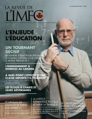 La Revue de l'IMFC Review - Institute of Marriage and Family Canada