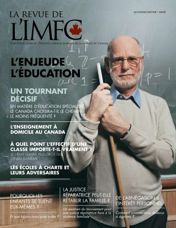 La Revue de l'IMFC Review - Institute of Marriage and Family Canada