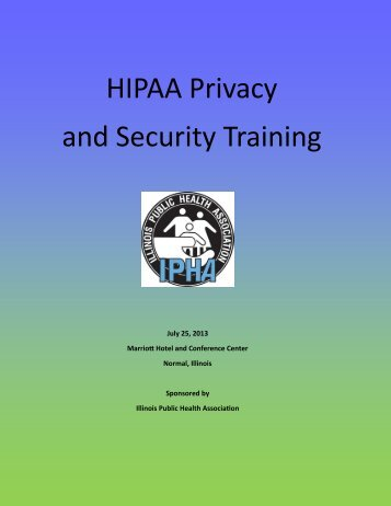 HIPAA Training Brochure - Illinois Public Health Association