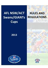 NSW Swans AFL Cup Rules and Regulations 2013.pdf
