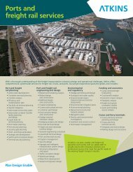 Ports and freight rail services - Atkins North America