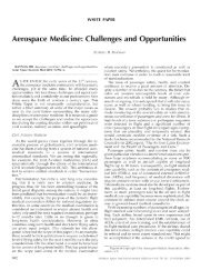 White Paper: Aerospace Medicine Challenges & Opportunities