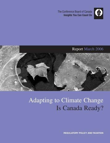 Adapting to Climate Change: Is Canada Ready? - Nunavut Economic Forum