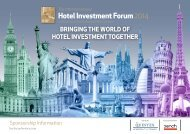Hotel Investment Forum2014 - International Hotel Investment Forum