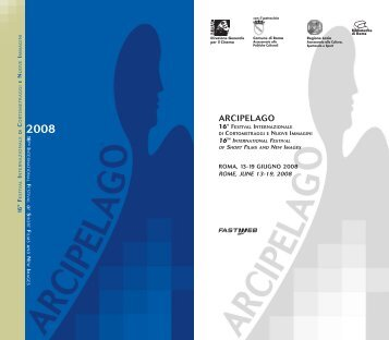 Download the programme (.pdf) - Arcipelago