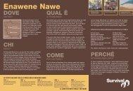 Azione Enawene Nawe - Survival International