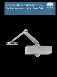 Chiudiporta aerodinamico 564 Surface mounted ... - ASSA ABLOY