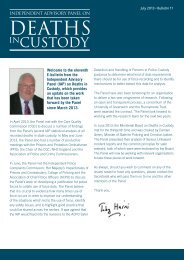 on Deaths in Custody E-Bulletin July 2013 Download this
