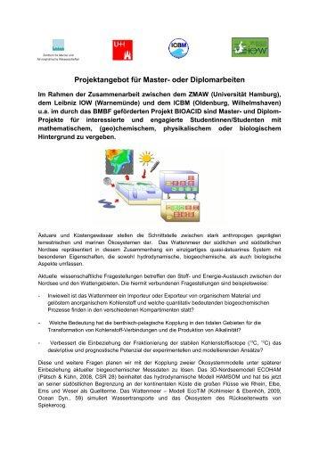 Modellkopplung ECOHAM – ECOTIM - Mathematische Modellierung