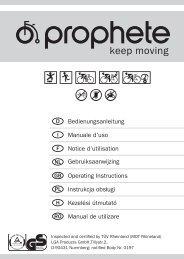 Bedienungsanleitung Manuale d'uso Notice d'utilisation NL - Prophete