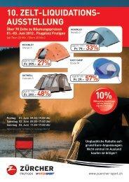 10. Zelt-liquidations- ausstellung