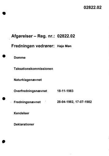 02822.02 Afgørelser - Reg. nr.: 02822.02 ... - Naturstyrelsen