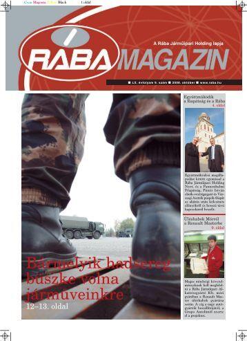 rába magazin október - RÁBA Járműipari Holding Nyrt.
