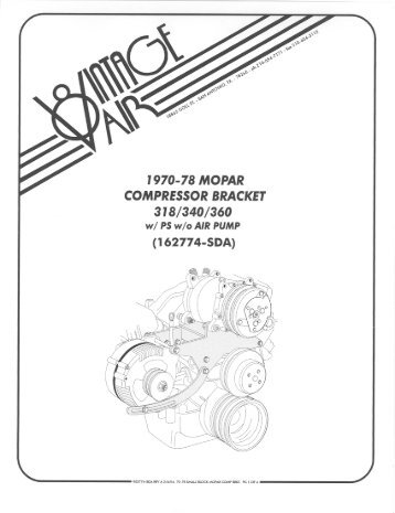 Vintage Air Compressor Wiring Diagram