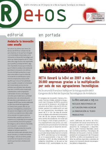 editorial en portada - Congreso RETA 2007 - Red de Espacios ...