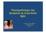 Physiopathologie des épilepsies de la personne âgée