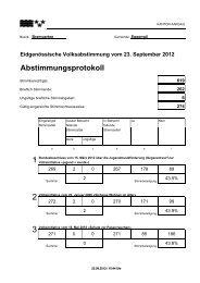 Eidgenössische Volksabstimmung vom 23. September ... - Eggenwil