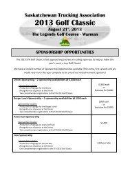 2013 Golf Classic - Saskatchewan Trucking Association