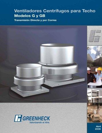 Ventiladores Centrífugos para Techo - Greenheck