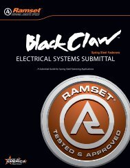 ELECTRICAL SYSTEMS SUBMITTAL - Ramset Fastening ...