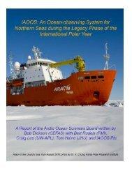 Report of the Arctic Oceans Sciences Board Download PDF (3.04 MB)