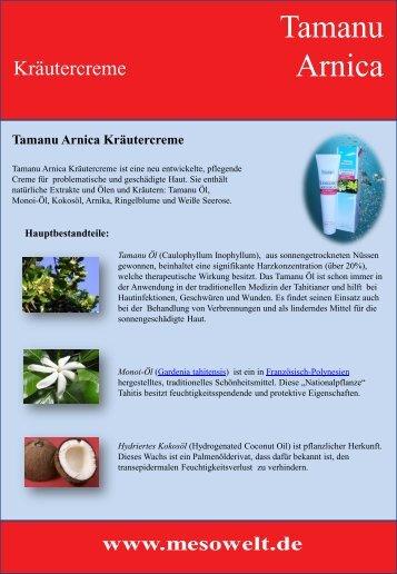 Tamanu Arnica Kräutercreme - Mesowelt