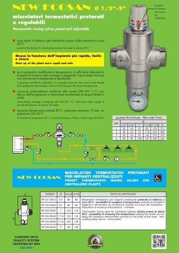 """New Ecosan - Miscelatori termostatici fino a 2"""" per ... - River SPA"""