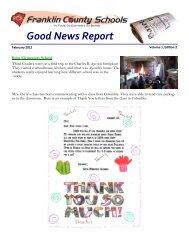 Good News Report February 2012 - Franklin County Schools