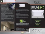 Tri-Fold EV Product Counter Brochure - Dual-Lite
