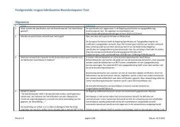 Veelgestelde vragen fabrikanten Boordcomputer Taxi - Inspectie ...