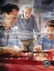 Guide to VA Mental Health Services for Veterans and Families