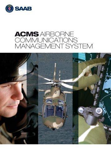 acms airborne communications management system - Saab