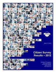 2012 Citizen Survey Results - District of Saanich