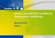 Deployment guideline - datex2