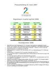 Pressemelding 14. mars 2007 Regnskap 4. kvartal og året ... - TV2.no