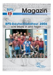 BPS-Deutschlandtour 2006 - Bundesverband Prostatakrebs ...